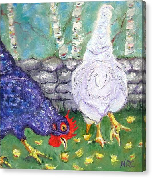 Chicken Neighbors Canvas Print