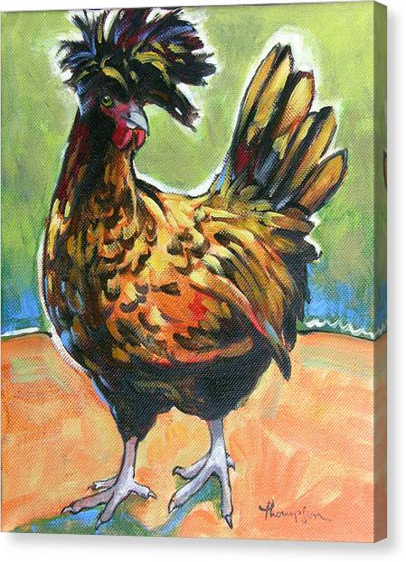 Chicken Farms Canvas Print - Chicken Sister 2 by Tracie Thompson
