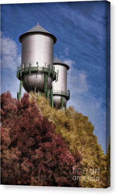 Chico Water Towers Canvas Print