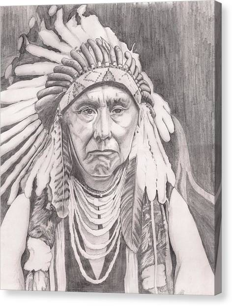 Chief Joseph Canvas Print by Beverly Marshall