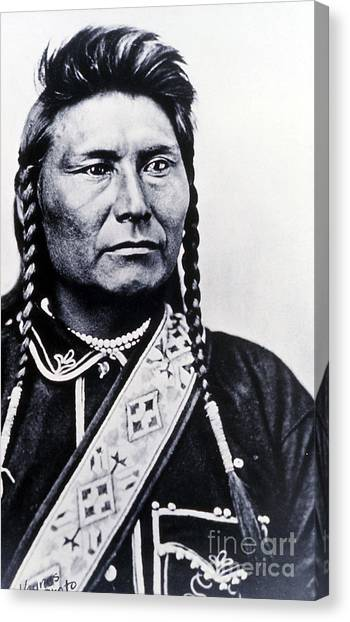 Notable Canvas Print - Chief Joseph Nez Perce Leader by NPS Photo