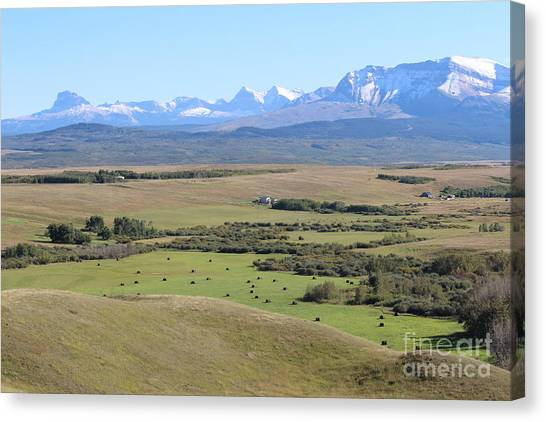 Canvas Print featuring the photograph Chief Mountain by Ann E Robson