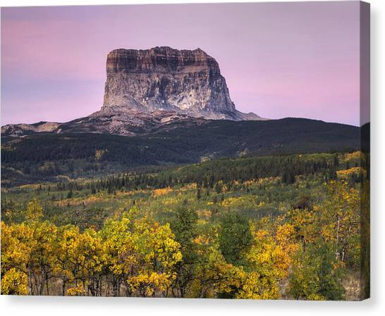Beauty Mark Canvas Print - Chief Mountain Sunrise by Mark Kiver