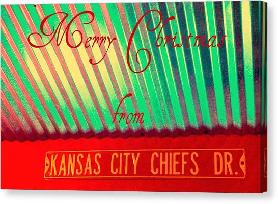 Chiefs Christmas Canvas Print