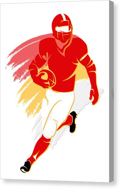 Kansas City Chiefs Canvas Print - Chiefs Shadow Player2 by Joe Hamilton