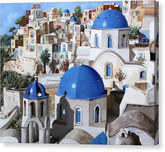 Greece Canvas Print - Chiese Ortodosse by Guido Borelli