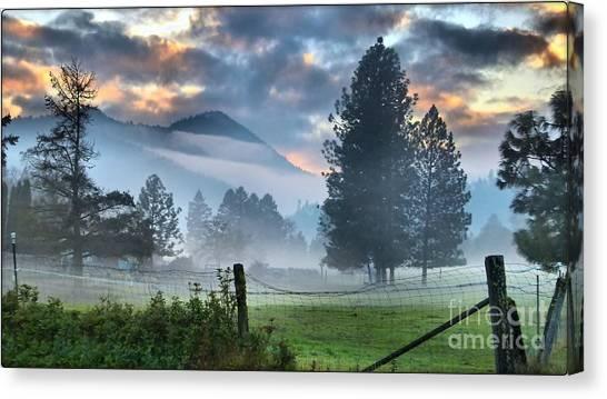 Chiffon Fog Canvas Print