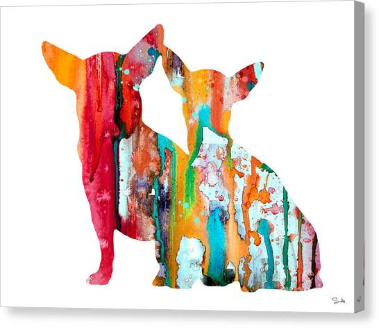 Chihuahuas Canvas Print - Chihuahua 4 by Watercolor Girl
