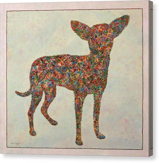 Chihuahuas Canvas Print - Chihuahua-shape by James W Johnson