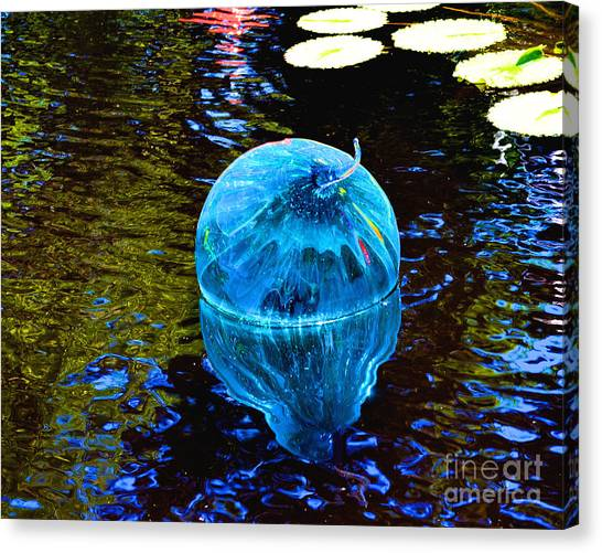 Artsy Blue Glass Float Canvas Print