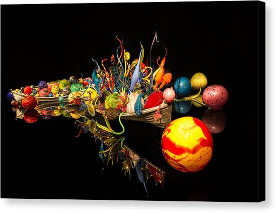Chihuly Float Boat Canvas Print