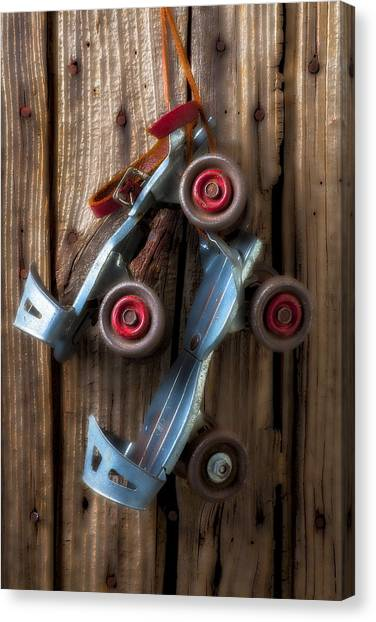 Roller Skating Canvas Print - Childhood Skates by Garry Gay