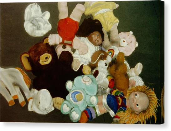 Care Bears Canvas Print - Childhoods End by David Zimmerman