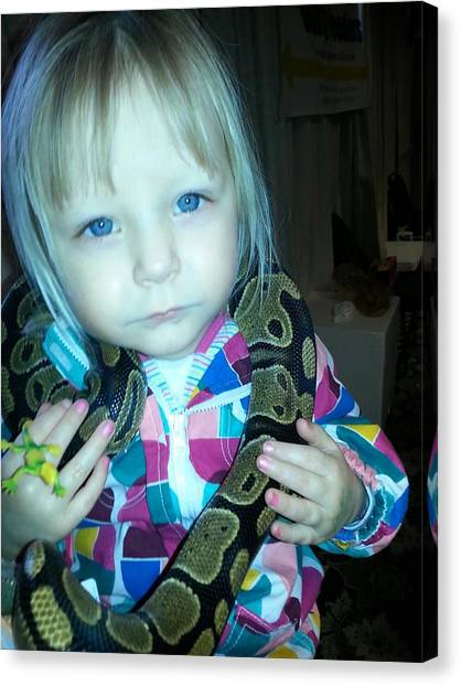 Ball Pythons Canvas Print - Children Are Fearless by Sara Gaughan