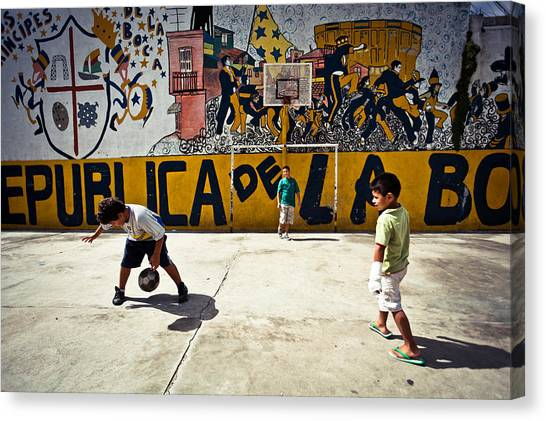 Argentinian Canvas Print - Children From La Boca by Jakub Polomski
