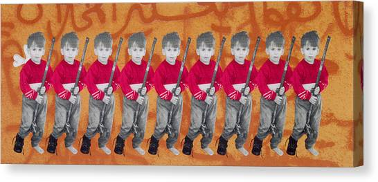 Palestinian Canvas Print - Children Of War, Children Of Peace, 1996 Silkscreen On Canvas See Also 279271 by Laila Shawa