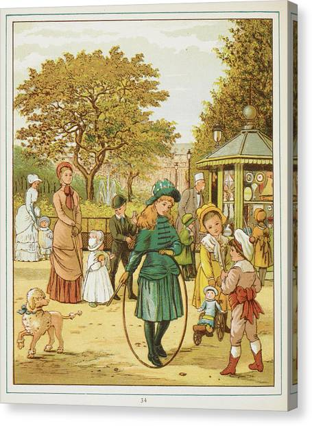 Music Genres Canvas Print - Children Playing And Talking by British Library