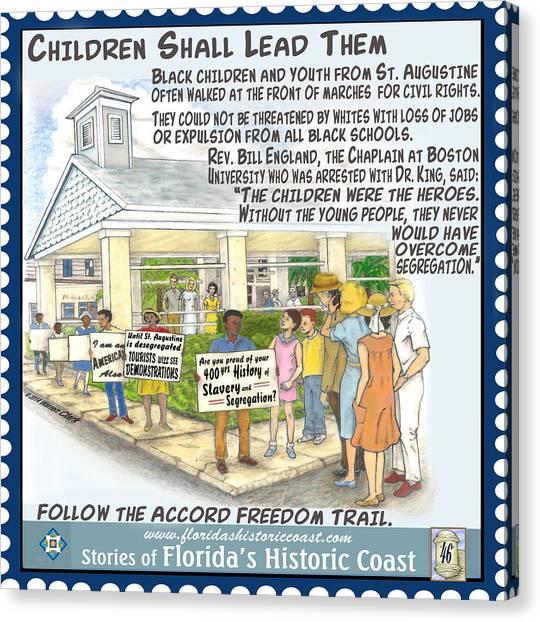 Patriot League Canvas Print - Children Shall Lead Them by Warren Clark