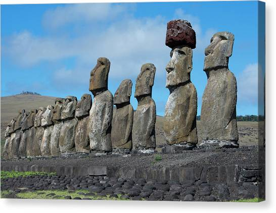 World Heritage Site Canvas Print - Chile, Easter Island, Hanga Nui by Cindy Miller Hopkins