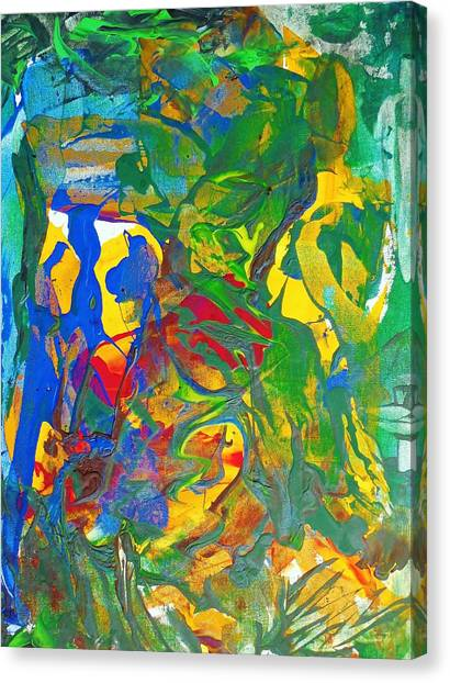 Chill I Knew This Jungle Years Ago    2013 09 26  Copy Canvas Print by Bruce Combs - REACH BEYOND