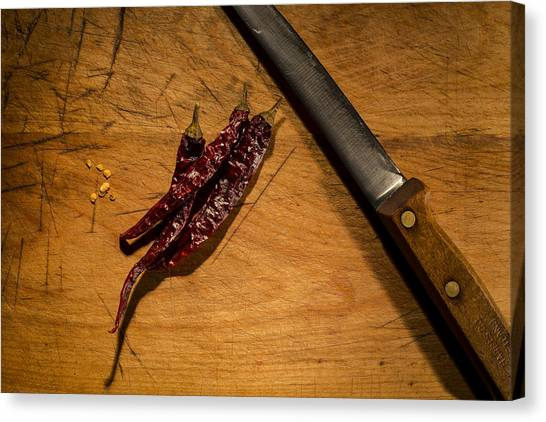 Chilli Peppers Canvas Print by Andrew Pacheco