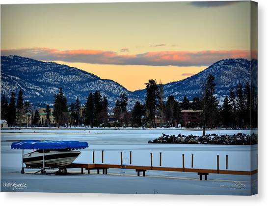 Chillingsunrise 001 Skaha Lake 02-28-2014 Canvas Print