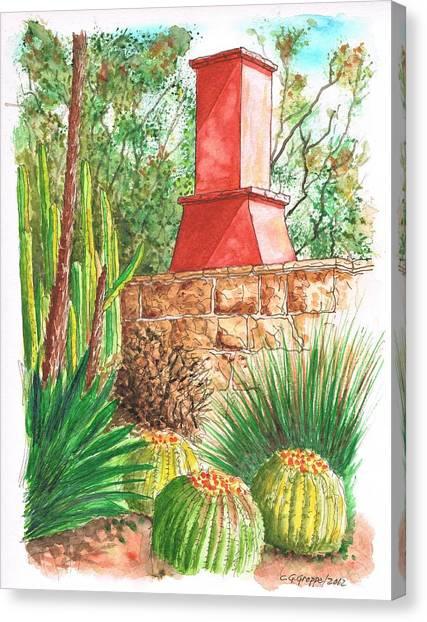 Chimney At The Arboretum - Arcadia - California Canvas Print