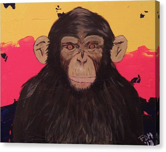 Chimp In Prime Canvas Print