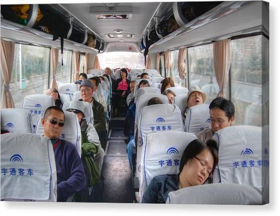 China Bus Ride  Canvas Print