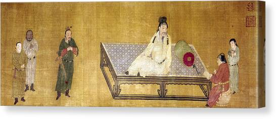 Instructions Canvas Print - China Emperor And Prince by Granger