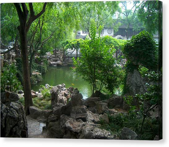 China Garden Canvas Print