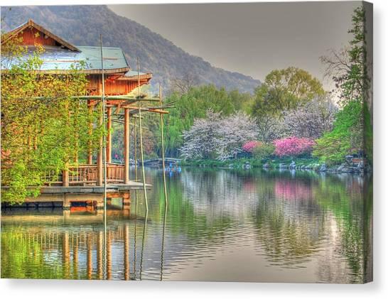 China Lake House Canvas Print