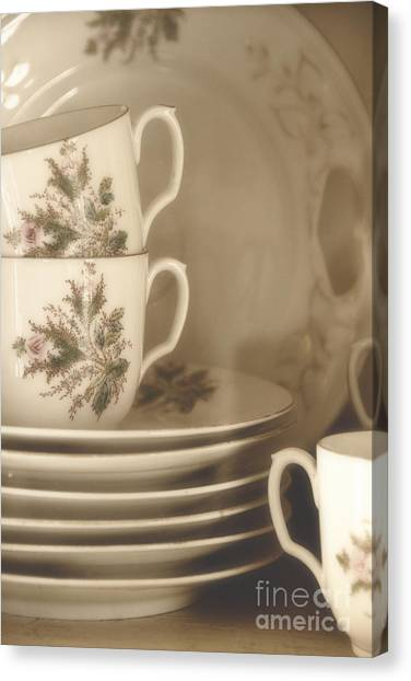 China Place Settings Canvas Print