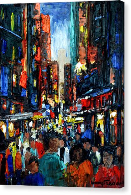 China Town Canvas Print - China Town by Anthony Falbo