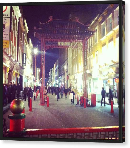 Parliament Canvas Print - China Town - London by David  Simmons