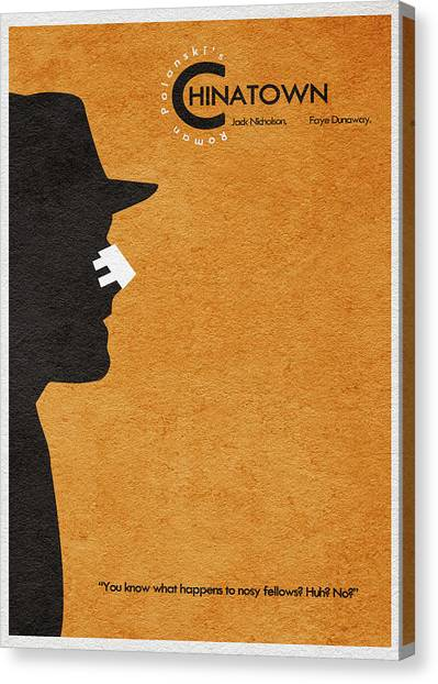 Jack Nicholson Canvas Print - Chinatown by Inspirowl Design