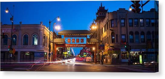 China Town Canvas Print - Chinatown Chicago by Steve Gadomski