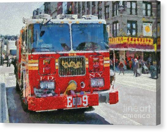 Chinatown Dragonfighters Canvas Print