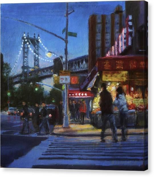 Chinatown Nocturne Canvas Print