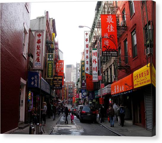 Chinatown Ny Canvas Print