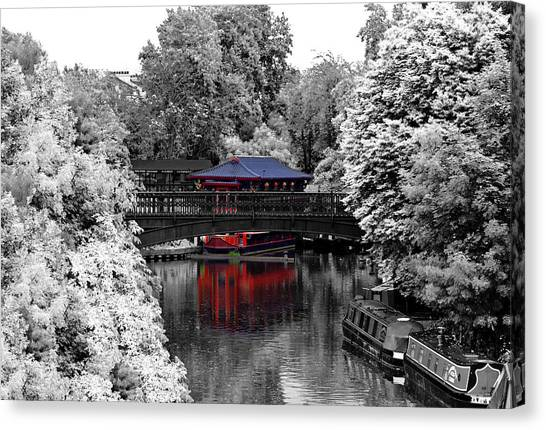 Chinese Restaurant Canvas Print - Chinese Architecture In Regent's Park by Maj Seda
