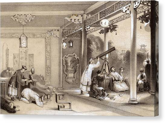 Chinese Ceremonies Performed  When An Canvas Print by Mary Evans Picture Library