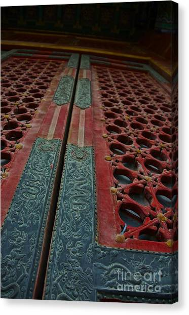 Chinese Door  Canvas Print