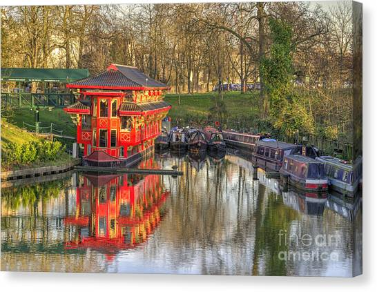 Chinese Restaurant Canvas Print - Chinese Reflections  by Rob Hawkins