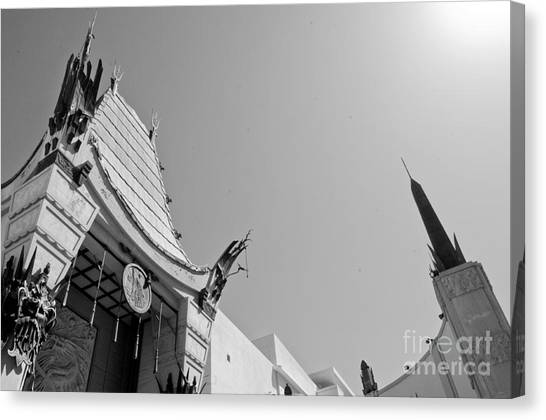 Movie Canvas Print - Chinese Theater by Dan Holm