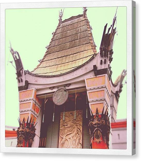 Hollywood Canvas Print - Chinese Theater by Jill Battaglia