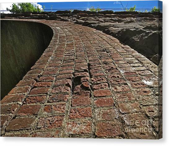 Chipmunks View Of A Stone Bridge Canvas Print