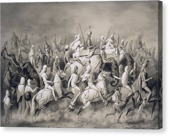 Sikh Canvas Print - Chir Singh, Maharajah Of The Sikhs by A Soltykoff