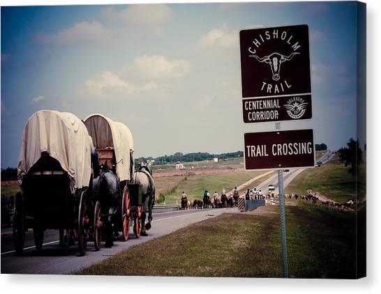 Chisholm Trail Centennial Cattle Drive Canvas Print
