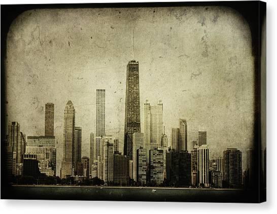 Chicago Skyline Art Canvas Print - Chitown by Andrew Paranavitana
